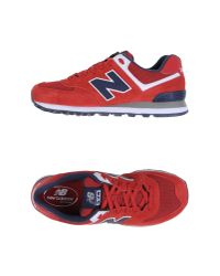 New Balance | Red Low-tops & Trainers for Men | Lyst