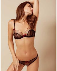 Agent Provocateur | Lorna Bra Black And Red | Lyst