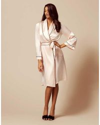 Agent Provocateur - Classic Dressing Gown Pink - Lyst