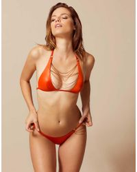 594953387f Agent Provocateur Tonya Bikini Top Orange in Orange - Lyst