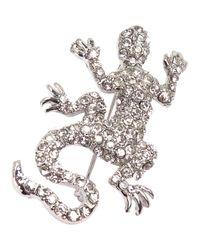 agnès b. - Metallic Silver Brooch Lizard - Lyst