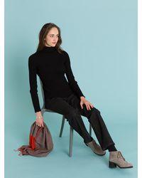 Agnes B. - Black Cotton Stone Pullover - Lyst