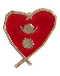 Agnes B.   Metallic Gold Heart Pin Népal   Lyst