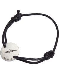 agnès b. - Black Bracelet Eclair for Men - Lyst