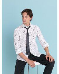 Agnes B. - White Graphic Print Vicious Shirt for Men - Lyst