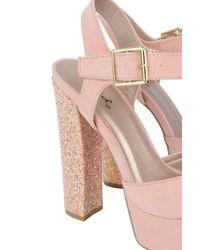 Akira - Pink Party Animal Platform Dressy Pumps - Lyst