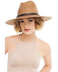 AKIRA | Brown La Bera Brimmed Hat | Lyst