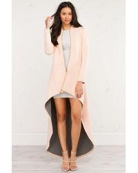 AKIRA - Multicolor High Low Zip Up Jacket - Lyst
