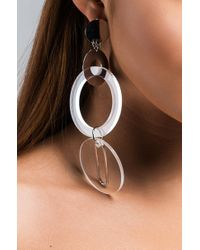 Akira - Multicolor Pauvault Clear Statement Earring - Lyst