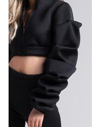 Akira - Black Turn It Up Oversized Sleeve Jacket - Lyst