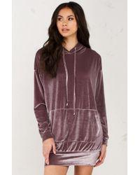 Akira | Gray Dark Side Velvet Longsleeve Sweater Dress | Lyst