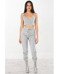 Akira | Gray Cant Even High Waist Sweat Pant | Lyst