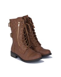Akira - Brown All Good Things Quilted Boots - Lyst