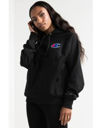 Champion - Black Reverse Weave Pullover Hoodie - Lyst