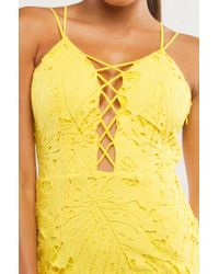 AKIRA - Yellow Harrison Tropics Midi Dress - Lyst