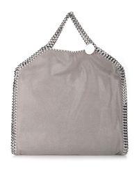 Stella McCartney | Gray Grey 'falabella' Foldover Tote Bag | Lyst