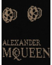 Alexander McQueen - Black Short Skull Socks for Men - Lyst