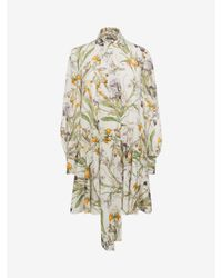 Alexander McQueen | White Wild Iris Over Dress | Lyst