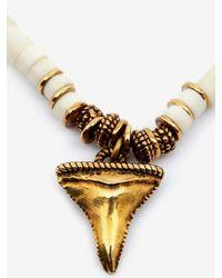 Alexander McQueen - Metallic Shark Tooth Necklace - Lyst