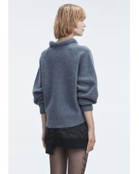 T By Alexander Wang - Gray Boiled Wool Sweater - Lyst