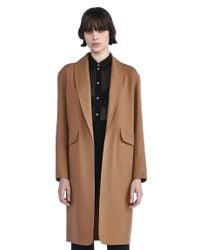 Alexander Wang Blue Stretch-wool Coat