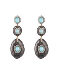 Alexis Bittar - Multicolor Crystal And Stone Studded Dangling Post Earring - Lyst