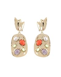 Alexis Bittar - Multicolor Sculptural Stone Cluster Clip Earring - Lyst