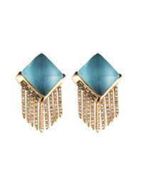 Alexis Bittar - Blue Lucite Fringe Pyramid Clip Earring You Might Also Like - Lyst
