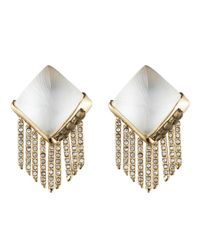 Alexis Bittar - Metallic Lucite Fringe Pyramid Clip Earring You Might Also Like - Lyst