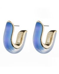 Alexis Bittar - Blue Geometric Huggie Post Earring You Might Also Like - Lyst