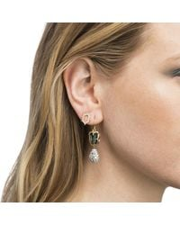 Alexis Bittar - Multicolor Mismatched Stone Wire Earring - Lyst