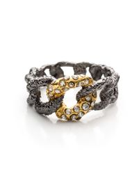 Alexis Bittar - Metallic Jardin With Gold Chain Link Ring You Might Also Like - Lyst