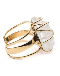 Alexis Bittar | Metallic Caged Rough Cut Crystal Nugget Cuff Bracelet You Might Also Like | Lyst