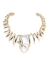 Alexis Bittar - White Encrusted Spiral Caged Clear Crystal Nugget Collar You Might Also Like - Lyst