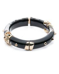 Alexis Bittar | Black Golden Studded Hinge Bracelet You Might Also Like | Lyst
