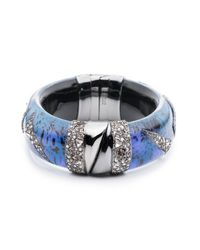 Alexis Bittar - Blue Crystal Encrusted Origami Inlay Hinge Bracelet You Might Also Like - Lyst