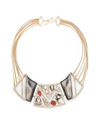 Alexis Bittar | Multicolor Crystal Ecrusted Mosaic Lace Bib Necklace You Might Also Like | Lyst