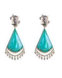 Alexis Bittar   Blue Crystal Lace Chandelier Earring You Might Also Like   Lyst