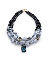 Alexis Bittar | Blue Multi Strand Stone Bib Necklace You Might Also Like | Lyst