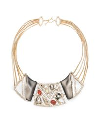 Alexis Bittar - Multicolor Crystal Ecrusted Mosaic Lace Bib Necklace You Might Also Like - Lyst