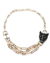 Alexis Bittar - Black Crystal Encrusted Panther Chain Link Necklace You Might Also Like - Lyst