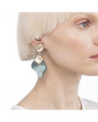 Alexis Bittar - Blue Folded Knot Dangling Clip Earring - Lyst