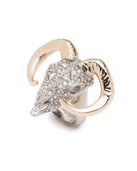 Alexis Bittar - Metallic Horned Ram Ring - Lyst