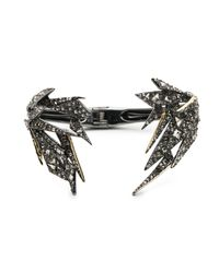 Alexis Bittar - Metallic Two-tone Crystal Encrusted Origami Break Hinge Bracelet You Might Also Like - Lyst
