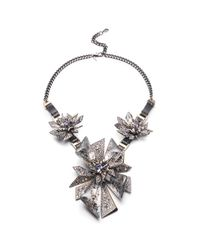 Alexis Bittar - Metallic Two-tone Crystal Studded Perennial Punk Bib Necklace You Might Also Like - Lyst