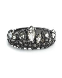 Alexis Bittar | White Gunmetal Jagged Marquis Crystal Cluster Ring You Might Also Like | Lyst