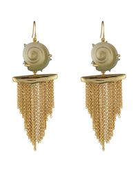 Alexis Bittar | Multicolor Crystal Studded Shell Tassel Wire Earring You Might Also Like | Lyst
