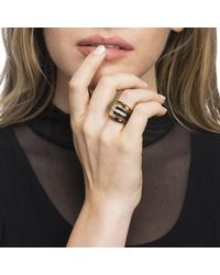 Alexis Bittar - Metallic Buckle Ring With Leather Accent - Lyst