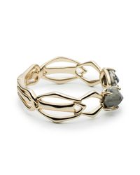 Alexis Bittar | Metallic Kinetic Gold Bypass Hinged Bracelet You Might Also Like | Lyst