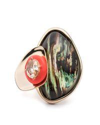 Alexis Bittar - Multicolor Wood Grain Ring - Lyst